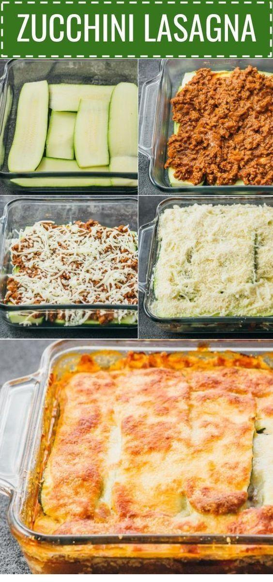 Zucchini-Lasagne mit Rinderhackfleisch | Keto-Rezepte - #KetoRezepte #lasagne #m... - Carroll&Rindfleischrezept