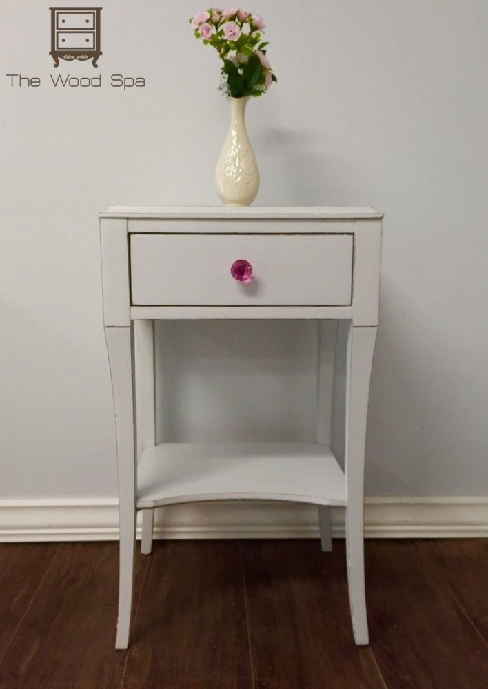 White And Pink Bedside Table Furniture By The Wood Spa