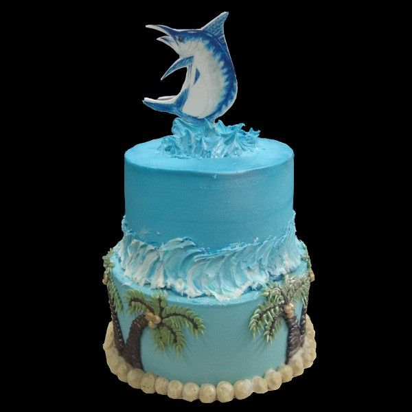Blue Marlin Birthday Cake Cakes Pinterest Blue marlin