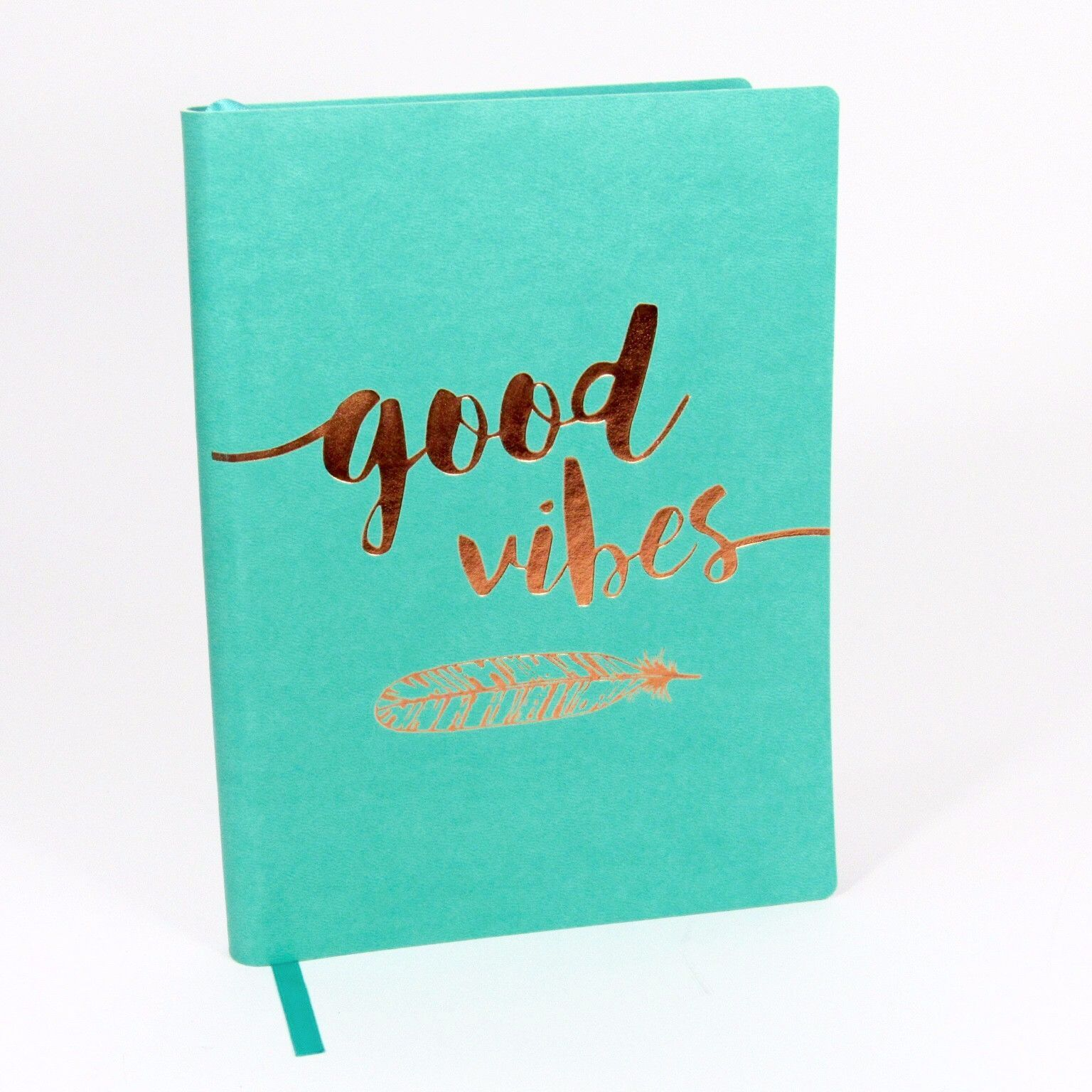 Quotes Journal Beautiful Blue Journal With Metallic Copper Motivational Quote