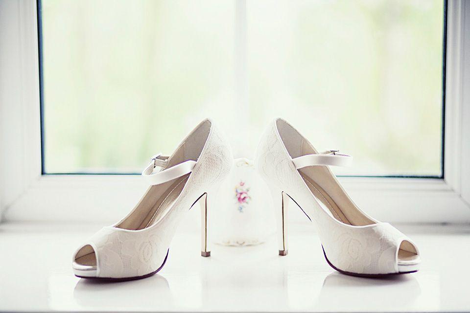 White peep toe stilettos 'Nina' by Rainbow Club   Photography by http://www.libbychristensen.co.uk/