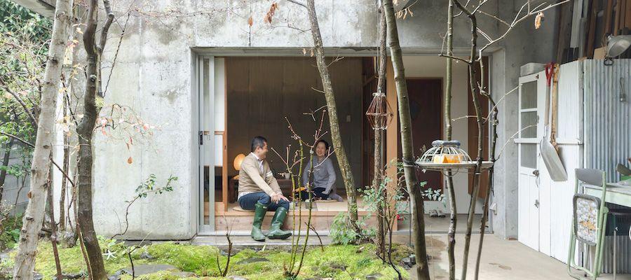 小さい自然を楽しむ家の中と庭がゆるやかにつながる住まい 家 建築