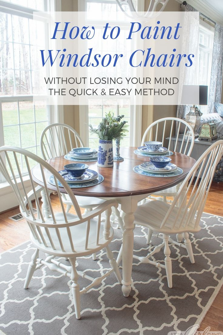 How to Paint Windsor Chairs Without Losing Your Mind