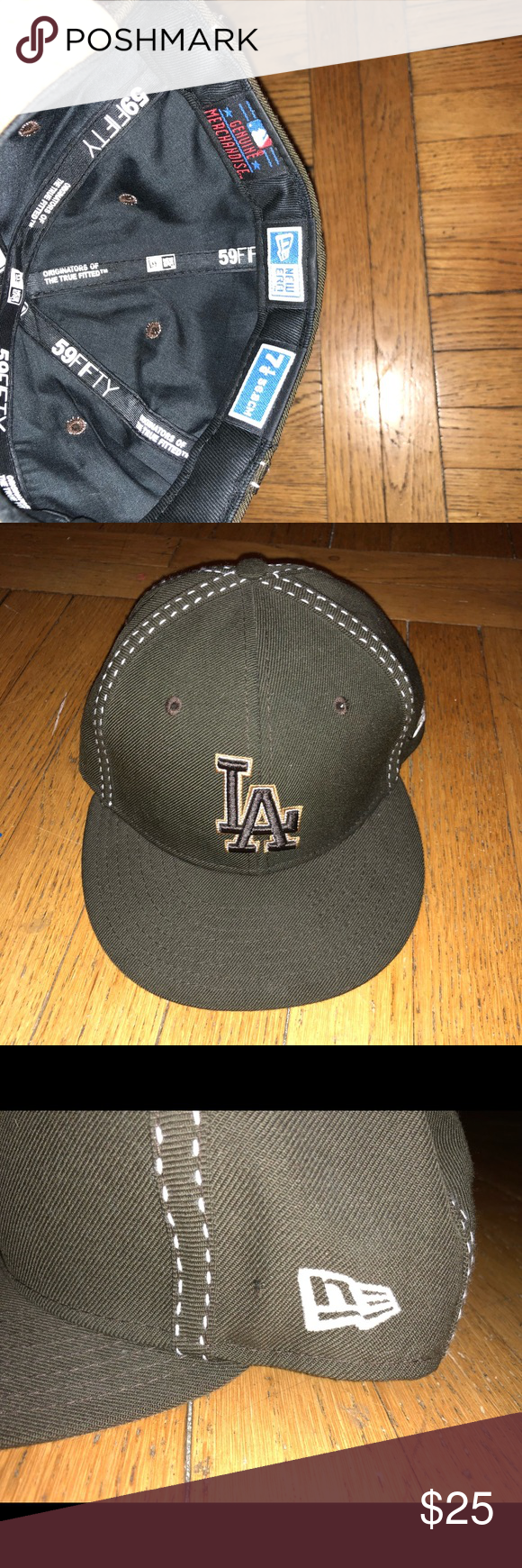 New Era La Fitted Hat Size 7 1 8 Fitted Hats Hat Sizes New Era