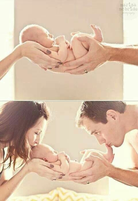 Newborn Pic Idea Love You From Your Head To Toes