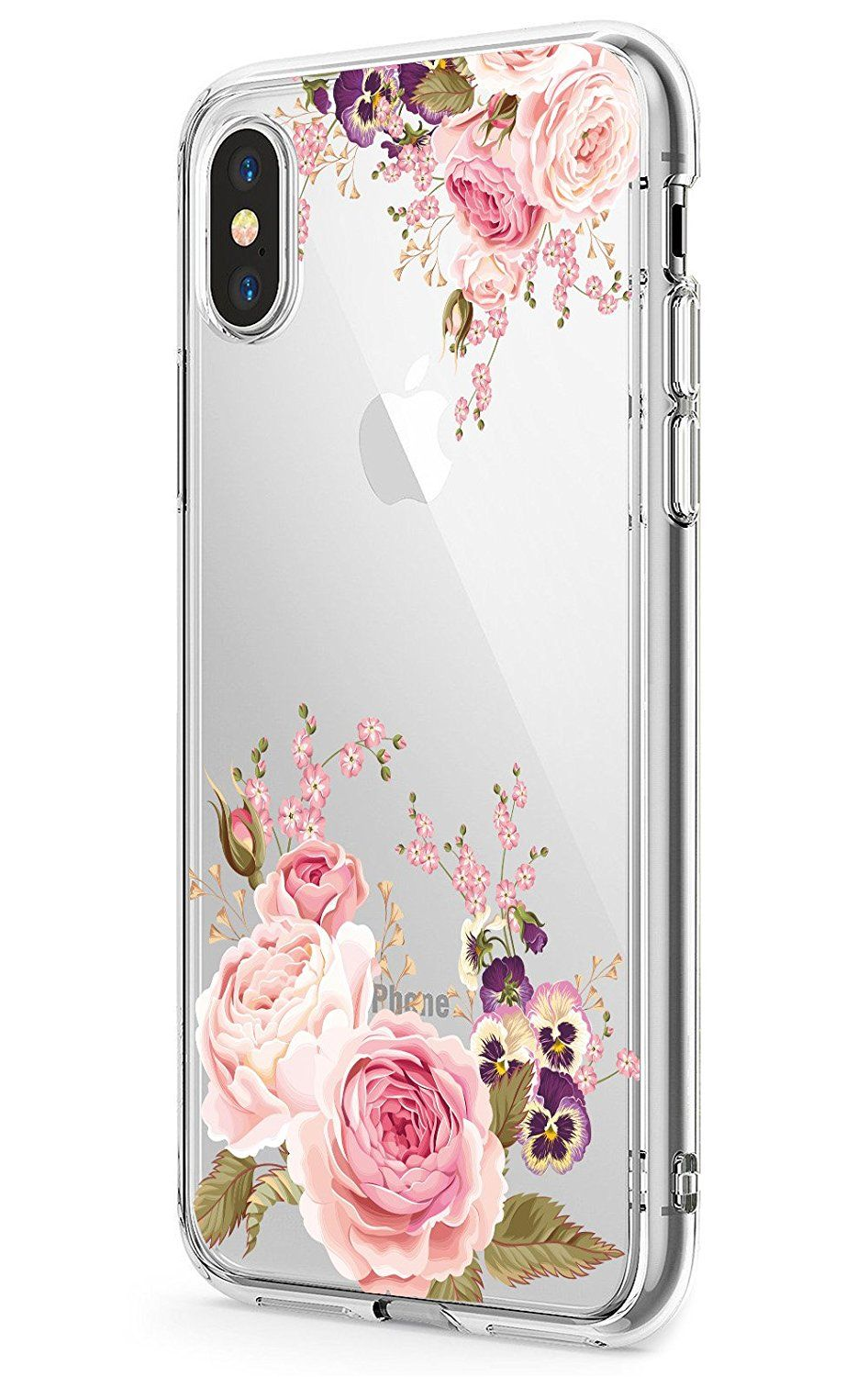 Iphone X Case Jaholan Girls Floral Design Clear Tpu Soft Slim Flexible Silicone Glossy Phone Case For Apple Iphone X 2017 Release Iphone Cases Iphone Case
