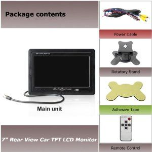 7 Tft Lcd Car Monitor Power Cables Automotive Bracket Remote