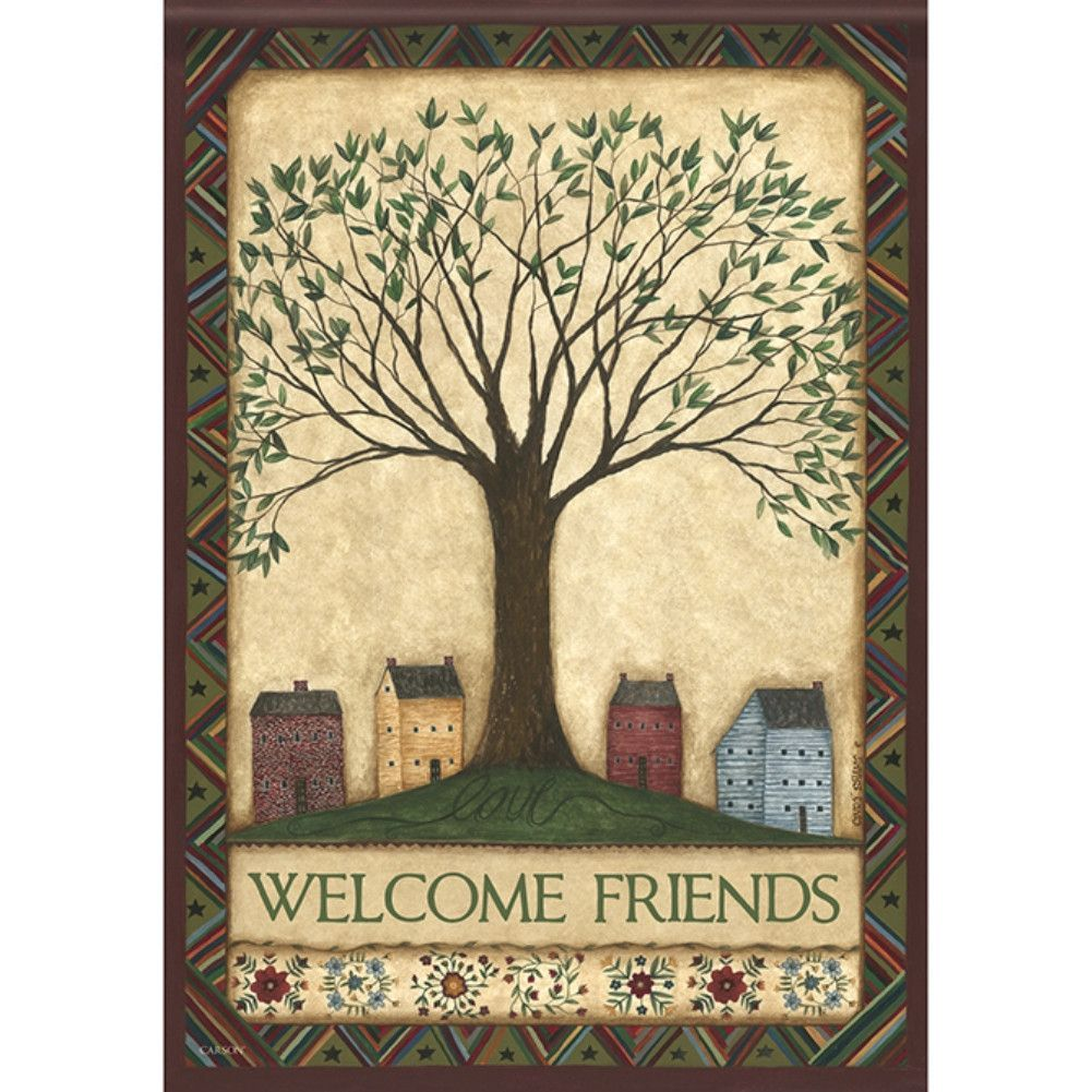 Welcome Tree Double Sided Flag | Primitive country, Primitives and Flags