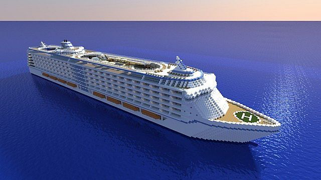 How Awesome Is This FUN Pinterest Ships Minecraft Ideas - Awesome cruise ships