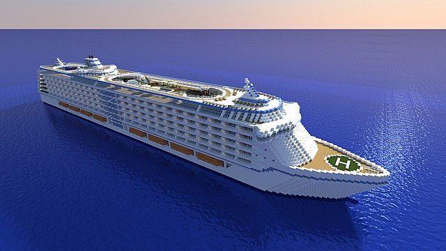 biggest minecraft cruise ship - Google Search