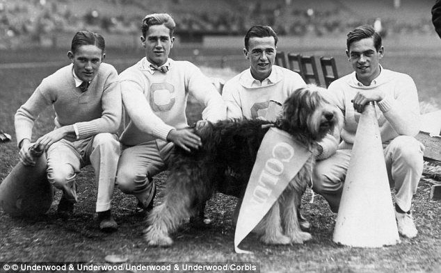 Male Cheerleaders & cheer dog in the early 1900s - Watch the documentary 'The Truth