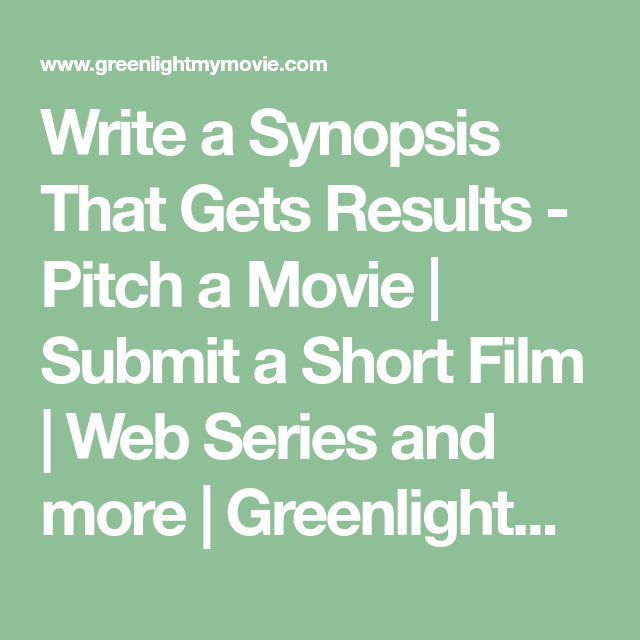 film synopsis examples for short films