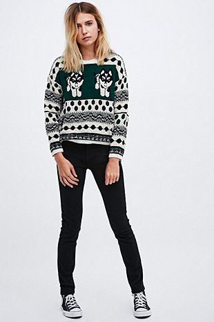 6695c3b0e BDG Akita Dog Jumper in Ivory and Green | Sweaters | Dog jumpers ...