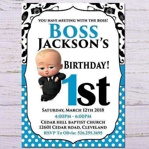 African Boss Baby Birthday Invitation Editable In