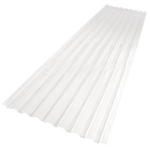 Suntuf 26 In X 12 Ft Polycarbonate Roofing Panel In Clear 101699 The Home Depot Roof Panels Polycarbonate Roof Panels Corrugated Roofing