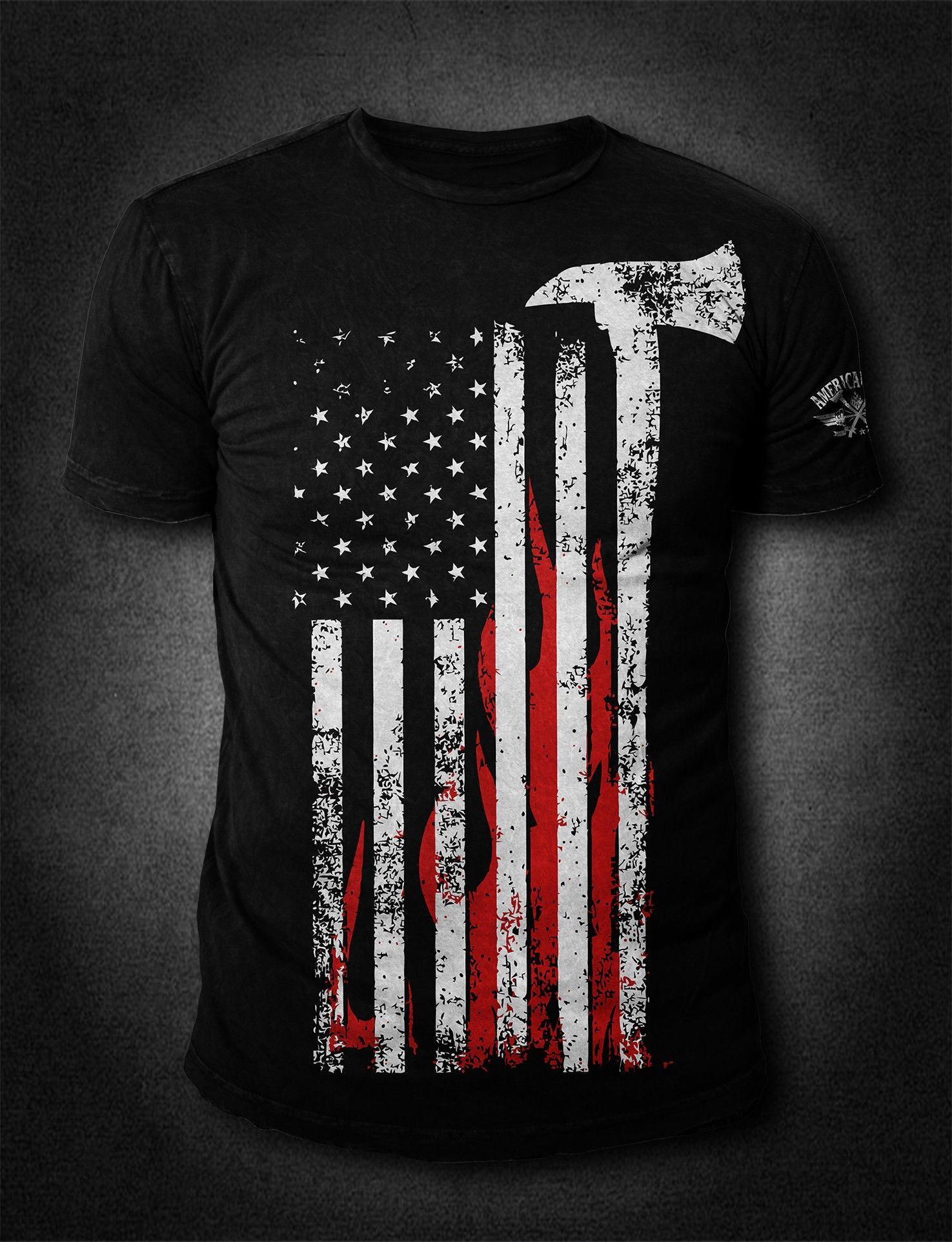 American Fire Hose And Cabinet Afa Flag Front Print Troy Design And Heroes