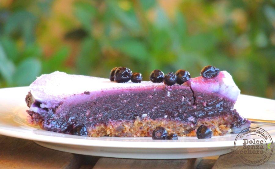 Torta Mirtilli Senza Cottura e Senza Glutine   Dolce Senza Zucchero
