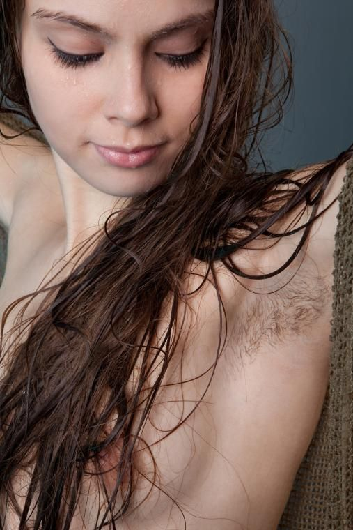 Magnificent nude girl armpit hairy that