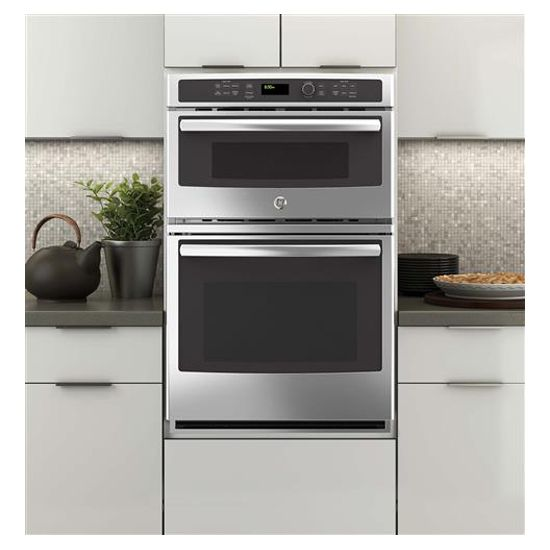 Ge 27 Electric Wall Oven Microwave Combo Stainless Steel