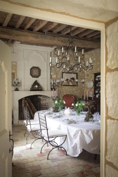 French Chateau Dining Room French Country Dining Room French