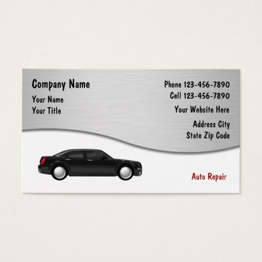 Auto Repair Business Cards Zazzle Com Auto Repair Unique