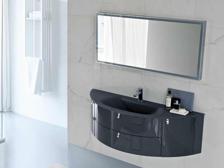 My Fly Mobili Bagno.Lacquered Vanity Unit With Drawers Comp Mfe16 My Fly Evo