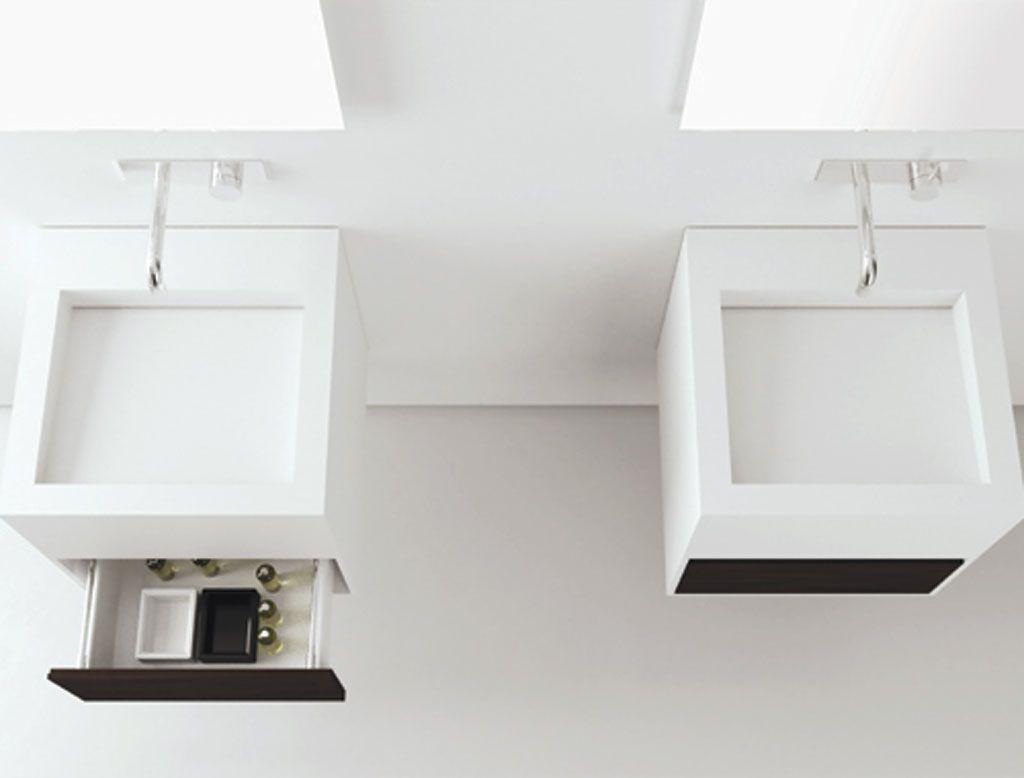 Cubic #mobile #bagno in #corian   T4H Mobili bagno   Pinterest ...