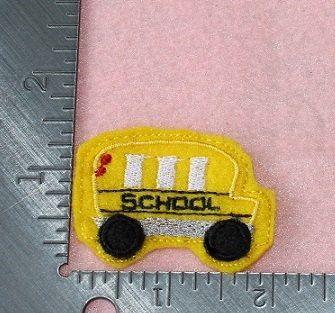 School bus back to school set of 4 UNCUT wholesale felties