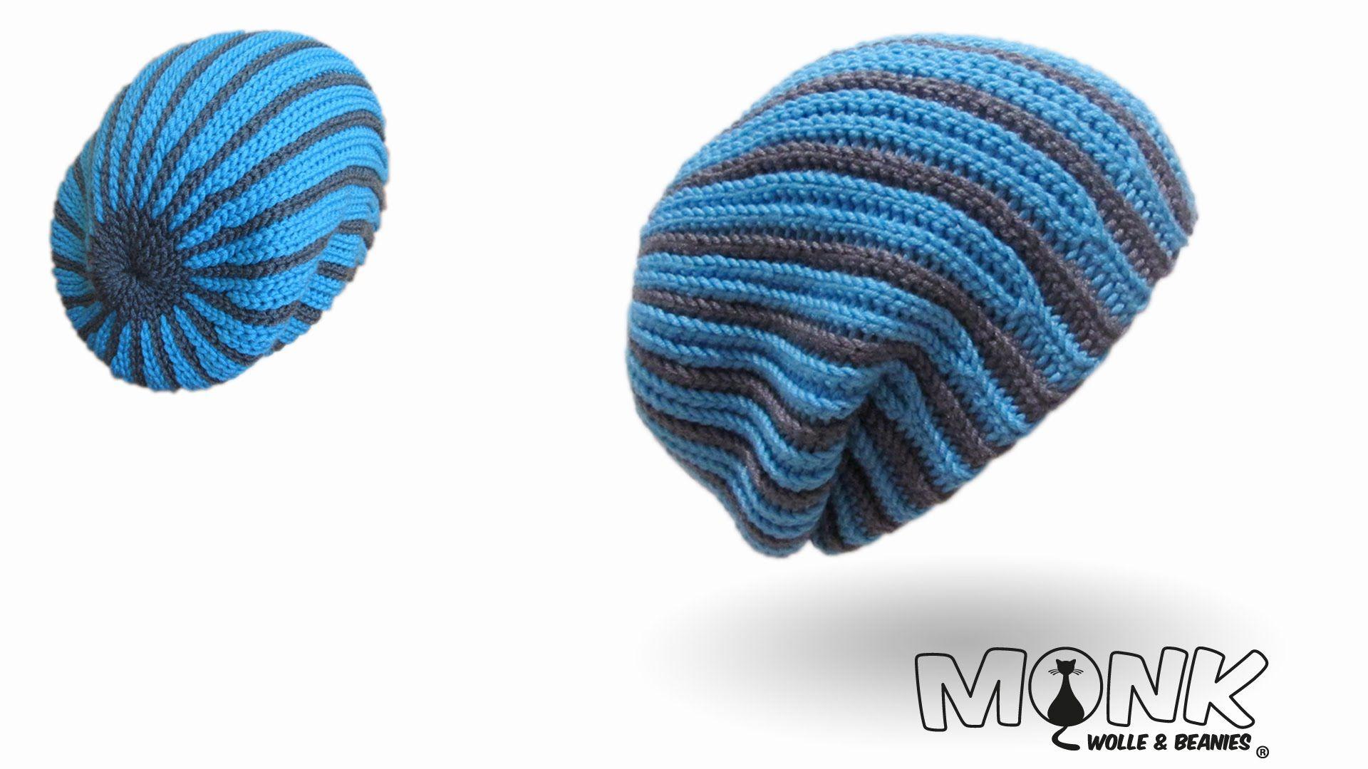 Long Beanie Zweifarbig Bosnisch Häkeln Mütze Häkeln Kettmaschen