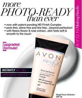 Avon's best-selling #primer! Wear alone or under your favorite foundation for a flawless finish. Oil-free and suitable for all skin tones. Contains a blend of Fleece Flower and Rose Extract.