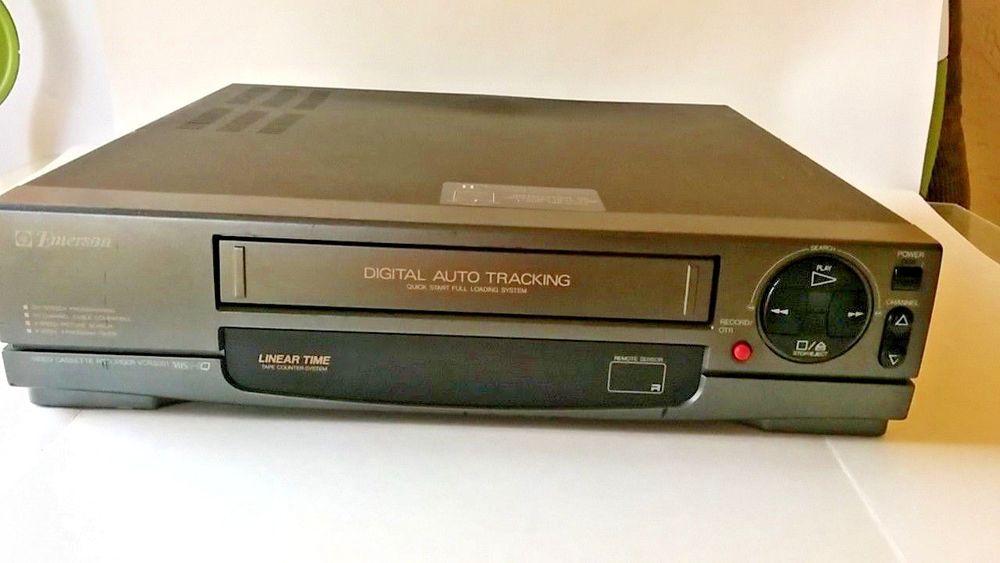 Emerson Vcr Vhs Video Cassette Player Recorder Model Vcr3001 Emerson Cassette Players Recorders Vcr Player Cassette