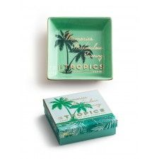 The Tropics Tray, Mint and Gold