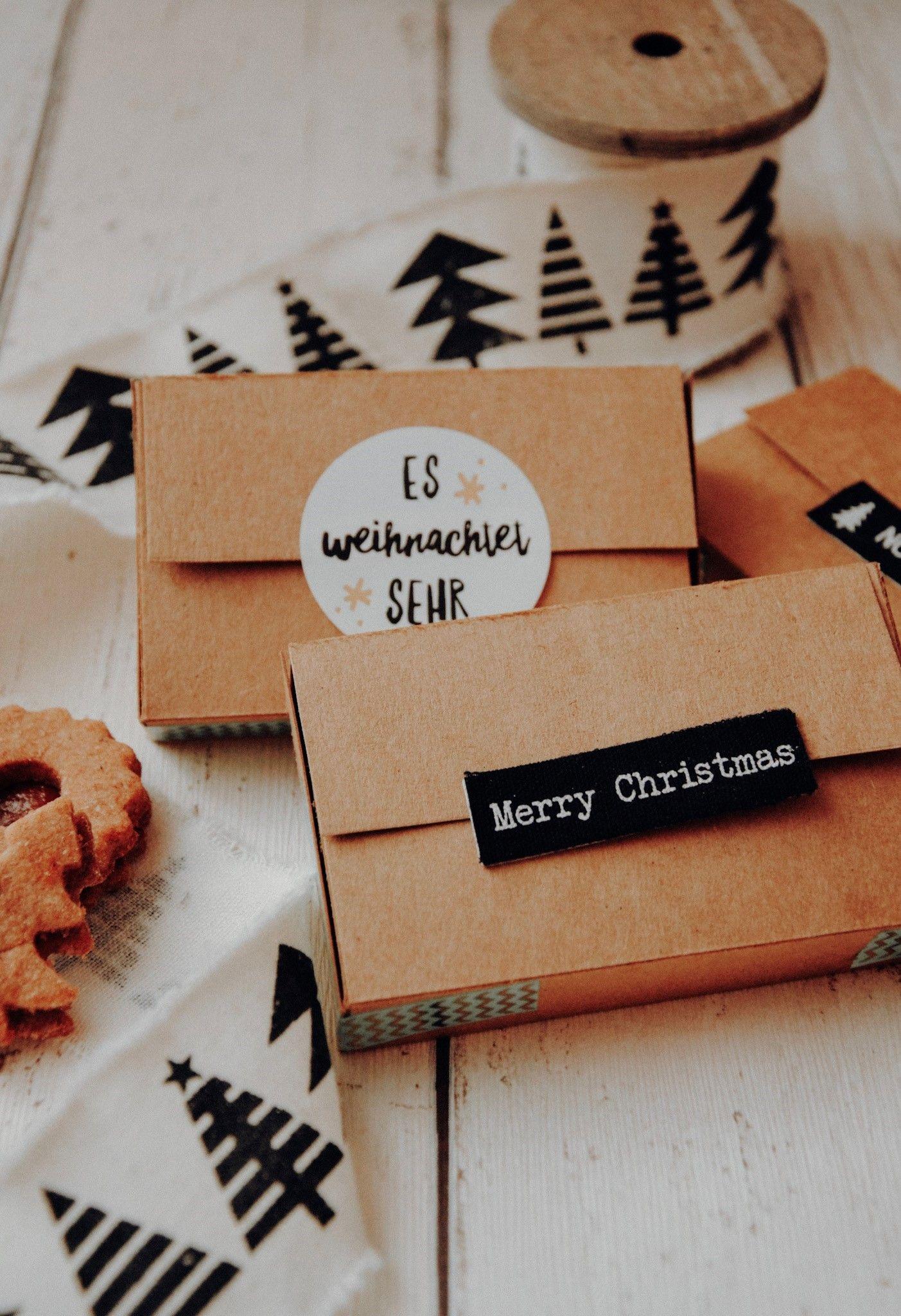 Weihnachtsboxen - kleine Geschenkverpackung - Fanelia