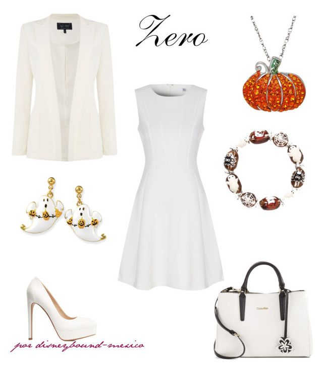 """""""Zero"""" by disneybound-mexico on Polyvore featuring True Decadence, Charlotte Russe, Armani Jeans, Calvin Klein, Artistique, Natures Jewelry, disney, disneybound, TheNigthmareBeforeChristmas and disneyxharacter"""
