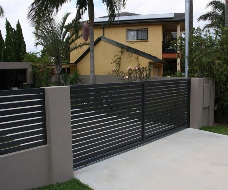 21 home fence design ideas t 39 wan fran ois 1st for Wall gate design homes