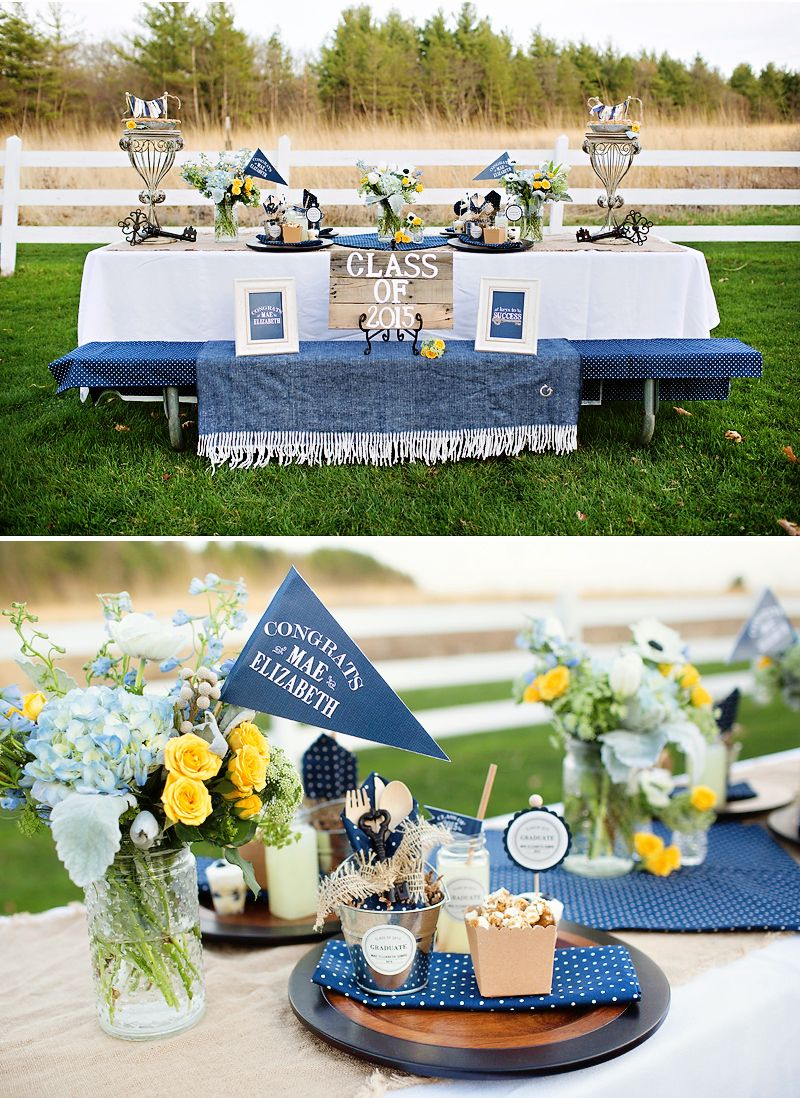 Rustic Centerpieces For Graduation Party : Lovely rustic quot keys to success graduation party