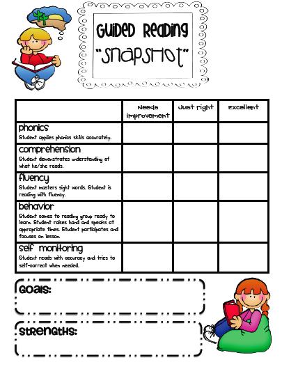 "Teaching Blog Addict: Guided Reading ""Snapshot"" Assessments"