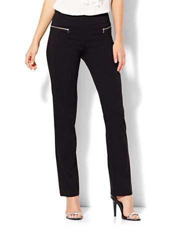 Shop 7th Avenue Design Studio - Slim-Leg Pull-On Pant - Modern - Leaner Fit - Ultra Stretch. Find your perfect size online at the best price at New York & Company.