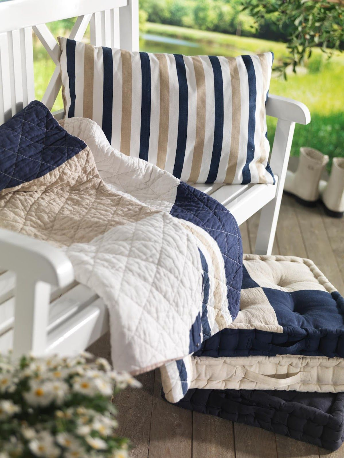 Living maritime tekstiler windsor pinterest lake cottage