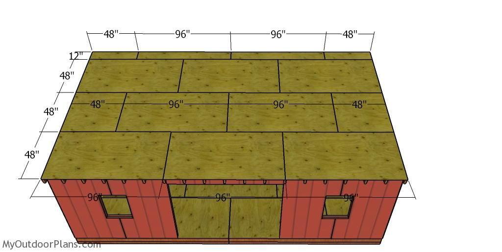 12x24 Lean to Shed Roof Plans MyOutdoorPlans Free