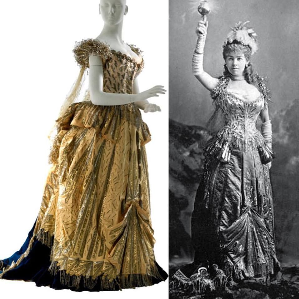 Worn by Alice Gwynn Vanderbilt for her sister-in-law Alva Vanderbilt's fancy dress ball on 26 March 1883. Museum of the City of New York