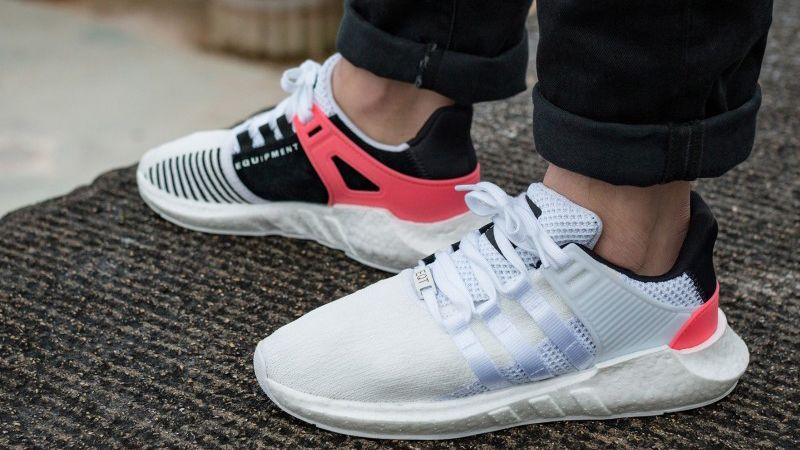 outlet for sale latest design united states adidas EQT Support 93-17 White Turbo Red On Feet | Adidas ...
