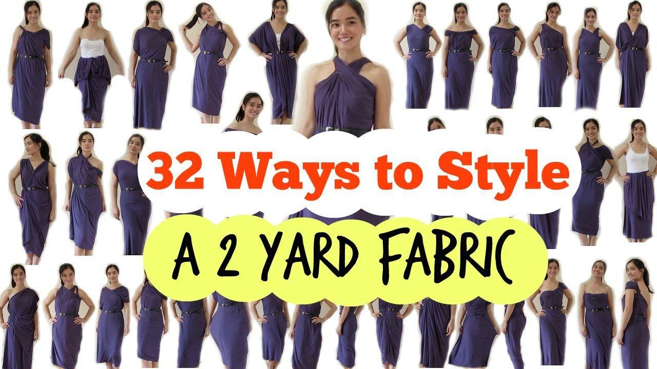 1ebdb0bc6 DIY: 32 Ways to Style a 2 Yard Fabric - YouTube | Photo Ideas | Diy ...