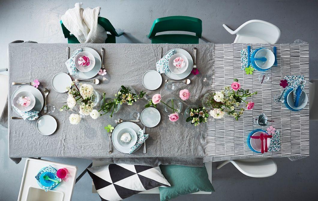 Eine Erstellen Gedeckter Gedeckter Tisch Familie Ideen Ikea Inspirationen Schone Sie Tabell Table Settings Modern Style Furniture Stylish Dining Room