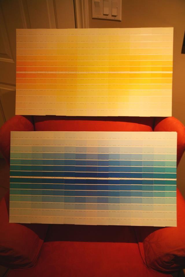 Done - paint chip wall art   Paint Swatches!   Pinterest   Paint ...