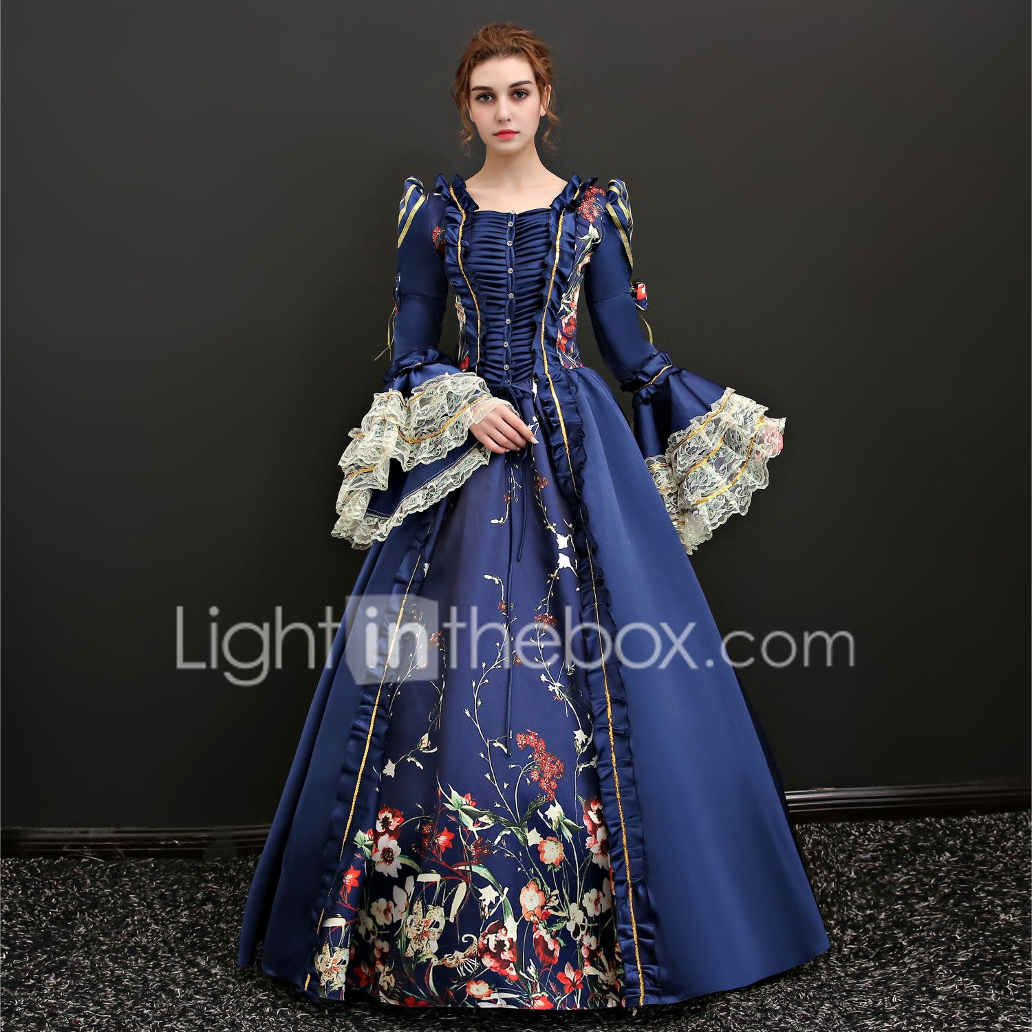 153 99 Queen Victoria Renaissance Vacation Dress Dress Outfits Party Costume Masquerade Women S Lace Costume Red Blue Vintage Cosplay 3 4 Length Sleeve Flo Dress Clothes For Women Royal Dresses Ball Gowns [ 1500 x 1500 Pixel ]