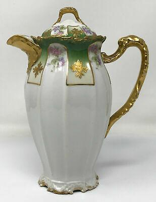 Antique Limoges Chocolate Pot LRL #teapotset