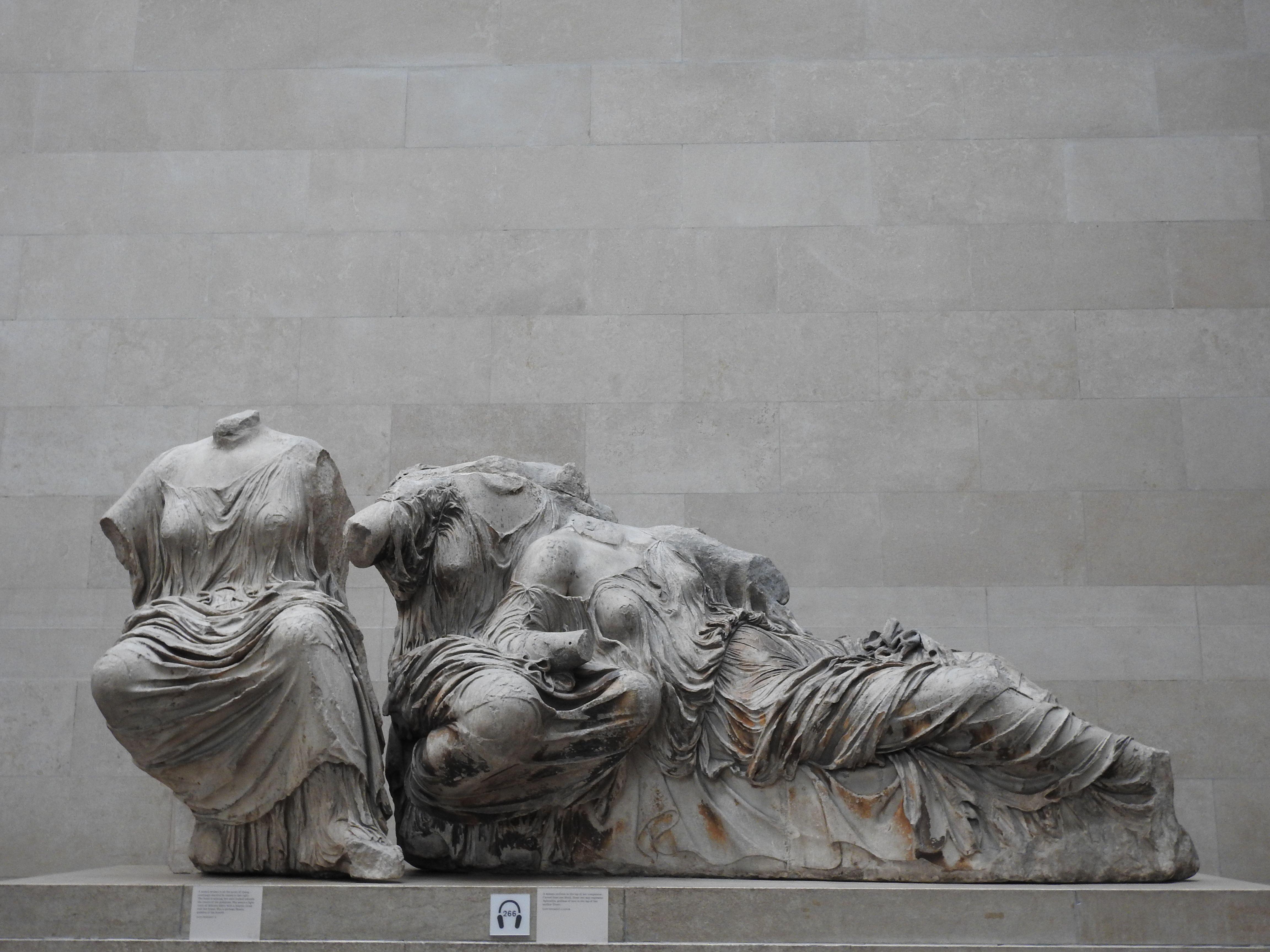 Pedimental Sculptures Taken From Parthenon Elgin Marbles Parthenon Frieze Art