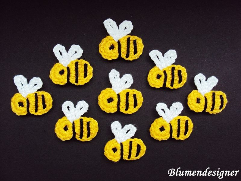 5 Bienen von Blumendesigner auf DaWanda.com | Applikation ...