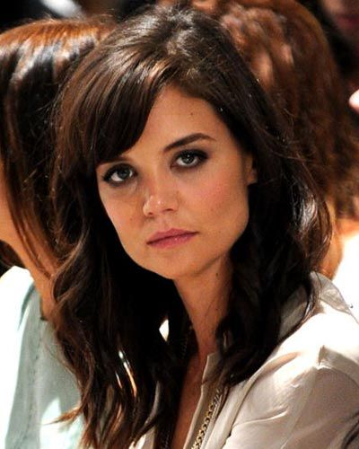 10 Celebrity Hairstyles With Bangs Pictures Long Hair Styles